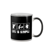 DRUM - LIFE IS SIMPLE Color Changing Mug thumbnail