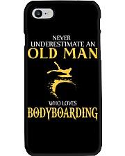 NEVER UNDERESTIMATE OLD MAN WHO LOVES BODYBOARDING Phone Case thumbnail