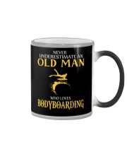 NEVER UNDERESTIMATE OLD MAN WHO LOVES BODYBOARDING Color Changing Mug thumbnail