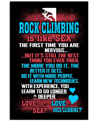 ROCK CLIMING IS LIKE SEX