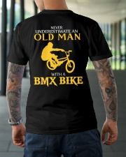 OLD MAN WITH A BMX BIKE Classic T-Shirt lifestyle-mens-crewneck-back-3