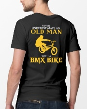 OLD MAN WITH A BMX BIKE Classic T-Shirt lifestyle-mens-crewneck-back-5