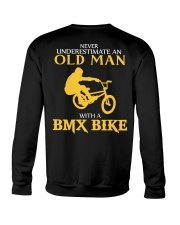 OLD MAN WITH A BMX BIKE Crewneck Sweatshirt thumbnail