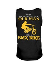 OLD MAN WITH A BMX BIKE Unisex Tank thumbnail