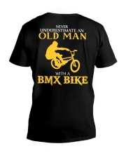 OLD MAN WITH A BMX BIKE V-Neck T-Shirt thumbnail