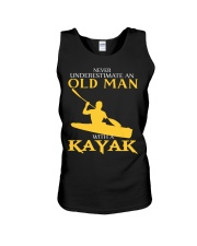 Old Man With A Kayak Unisex Tank tile
