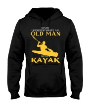 Old Man With A Kayak Hooded Sweatshirt thumbnail