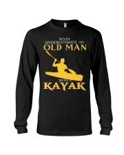 Old Man With A Kayak Long Sleeve Tee thumbnail