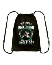 MY UNCLE IS A BMX RIDER Drawstring Bag thumbnail
