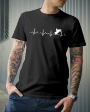 SNOWMOBILING HEARTBEAT Classic T-Shirt lifestyle-mens-crewneck-front-6