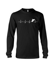 SNOWMOBILING HEARTBEAT Long Sleeve Tee tile