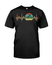 VINTAGE RETRO BODYBOARDING HEARTBEAT Classic T-Shirt front