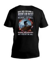 I BECOME A MOUNTAIN BIKER V-Neck T-Shirt thumbnail