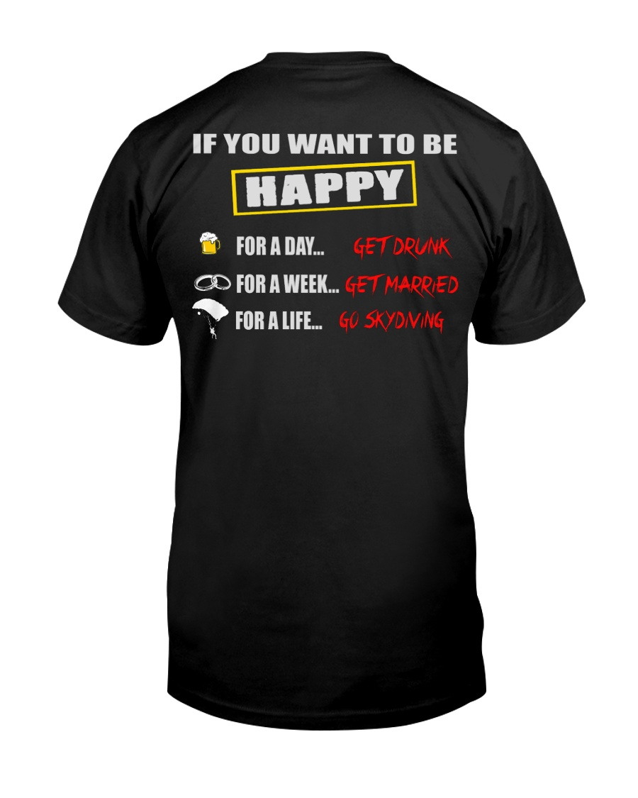 SKYDIVING MAKES ME HAPPY Classic T-Shirt