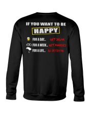 SKYDIVING MAKES ME HAPPY Crewneck Sweatshirt thumbnail