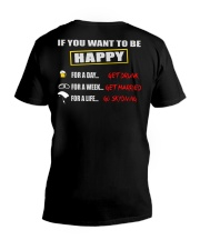 SKYDIVING MAKES ME HAPPY V-Neck T-Shirt thumbnail
