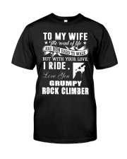 ROCKCLIMBER WIFE - PERFECT PRENSENT GIFST FOR WIFE Classic T-Shirt thumbnail