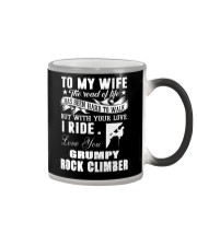 ROCKCLIMBER WIFE - PERFECT PRENSENT GIFST FOR WIFE Color Changing Mug thumbnail