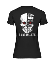 THE BEST BECOME PAINTBALLERS Premium Fit Ladies Tee thumbnail