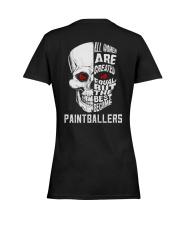 THE BEST BECOME PAINTBALLERS Ladies T-Shirt women-premium-crewneck-shirt-back