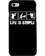 SKATEBOARDING - LIFE IS SIMPLE Phone Case thumbnail