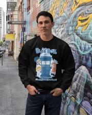 Fly The Blue Box Crewneck Sweatshirt lifestyle-unisex-sweatshirt-front-2