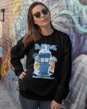 Fly The Blue Box Crewneck Sweatshirt lifestyle-unisex-sweatshirt-front-3
