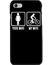 YOUR WIFE MY WIFE LOVE MOUNTAIN BIKING Phone Case thumbnail