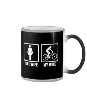 YOUR WIFE MY WIFE LOVE MOUNTAIN BIKING Color Changing Mug thumbnail