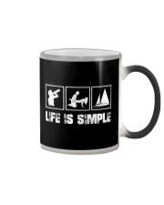 LIFE IS SIMPLE - SAILING Color Changing Mug thumbnail