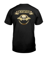 SKYDIVER SKULL Classic T-Shirt back