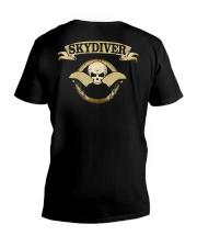 SKYDIVER SKULL V-Neck T-Shirt thumbnail
