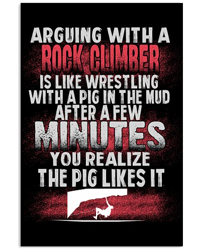 ARGUING WITH A ROCK CLIMBER