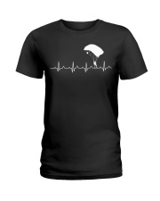 SKYDIVING HEARTBEAT Ladies T-Shirt thumbnail