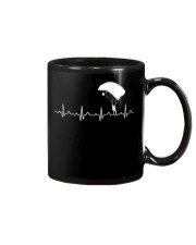 SKYDIVING HEARTBEAT Mug tile