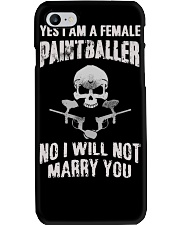 YES I AM A FEMALE PAINTBALLER Phone Case thumbnail