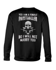 YES I AM A FEMALE PAINTBALLER Crewneck Sweatshirt thumbnail
