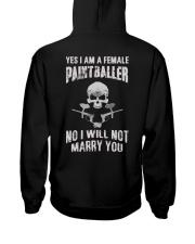 YES I AM A FEMALE PAINTBALLER Hooded Sweatshirt thumbnail