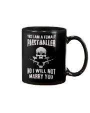 YES I AM A FEMALE PAINTBALLER Mug thumbnail