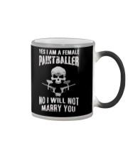 YES I AM A FEMALE PAINTBALLER Color Changing Mug thumbnail