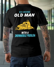 OLD MAN WITH A SNOWMOBILE PROBLEM Classic T-Shirt lifestyle-mens-crewneck-back-3