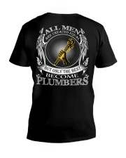 ONLY THE BEST BECOME PLUMBERS V-Neck T-Shirt thumbnail