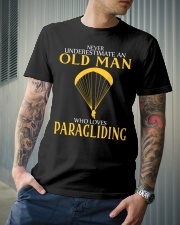 OLD MAN WHO LOVES PARAGLIDING Classic T-Shirt lifestyle-mens-crewneck-front-6