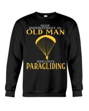 OLD MAN WHO LOVES PARAGLIDING Crewneck Sweatshirt thumbnail