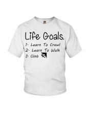 LIFE GOALS - CRAWL WALK CLIMB Youth T-Shirt thumbnail