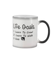 LIFE GOALS - CRAWL WALK CLIMB Color Changing Mug thumbnail