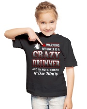 MY UNCLE IS A CRAZY DRUMMER Youth T-Shirt lifestyle-youth-tshirt-front-2