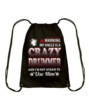 MY UNCLE IS A CRAZY DRUMMER Drawstring Bag thumbnail