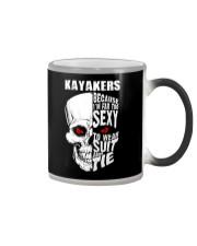 KAYAKERS BECAUSE I'M FAR TOO SEXY Color Changing Mug thumbnail