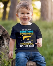 I LEARNED IT FROM MY DAD - HE IS A ROCK CLIMBER Youth T-Shirt lifestyle-youth-tshirt-front-4